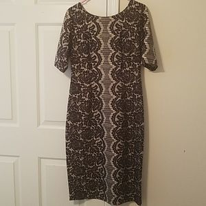 Black and tan lace dress size 10